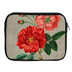 Flower Floral Background Red Rose Apple Ipad 2/3/4 Zipper Cases