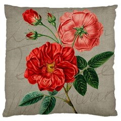 Flower Floral Background Red Rose Standard Flano Cushion Case (one Side)