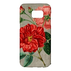 Flower Floral Background Red Rose Samsung Galaxy S7 Edge Hardshell Case by Nexatart