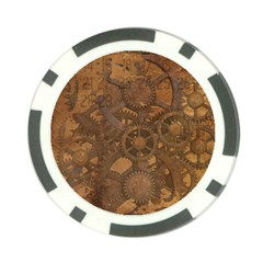 Background Steampunk Gears Grunge Poker Chip Card Guard