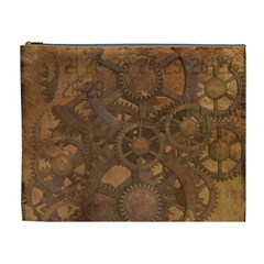 Background Steampunk Gears Grunge Cosmetic Bag (xl)