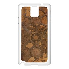 Background Steampunk Gears Grunge Samsung Galaxy Note 3 N9005 Case (white)