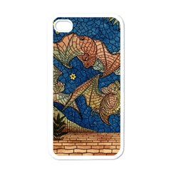 Bats Cubism Mosaic Vintage Apple Iphone 4 Case (white) by Nexatart