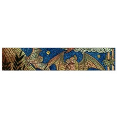 Bats Cubism Mosaic Vintage Small Flano Scarf by Nexatart