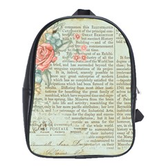 Vintage Floral Background Paper School Bag (large)