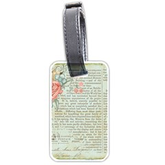 Vintage Floral Background Paper Luggage Tags (one Side)  by Nexatart