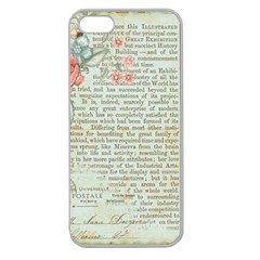 Vintage Floral Background Paper Apple Seamless Iphone 5 Case (clear)