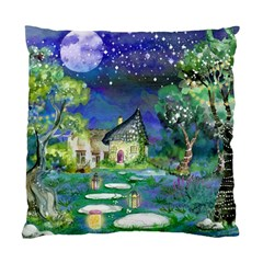 Background Fairy Tale Watercolor Standard Cushion Case (two Sides) by Nexatart