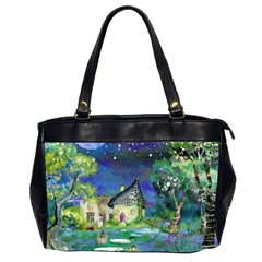 Background Fairy Tale Watercolor Office Handbags (2 Sides)  by Nexatart