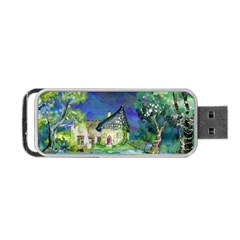 Background Fairy Tale Watercolor Portable Usb Flash (one Side)