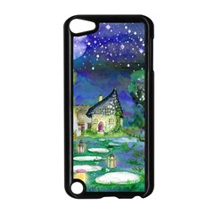 Background Fairy Tale Watercolor Apple Ipod Touch 5 Case (black)