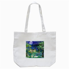 Background Fairy Tale Watercolor Tote Bag (white)