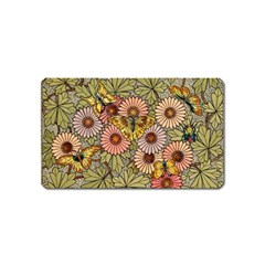 Flower Butterfly Cubism Mosaic Magnet (name Card)