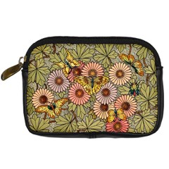 Flower Butterfly Cubism Mosaic Digital Camera Cases by Nexatart