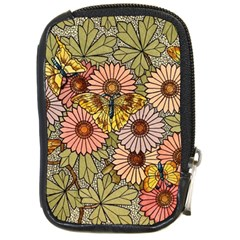 Flower Butterfly Cubism Mosaic Compact Camera Cases by Nexatart