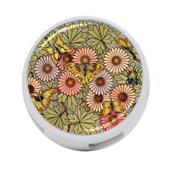 Flower Butterfly Cubism Mosaic 4 Port Usb Hub (one Side) by Nexatart
