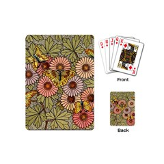 Flower Butterfly Cubism Mosaic Playing Cards (mini)