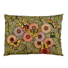 Flower Butterfly Cubism Mosaic Pillow Case (two Sides)