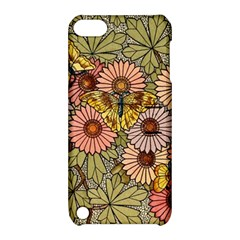 Flower Butterfly Cubism Mosaic Apple Ipod Touch 5 Hardshell Case With Stand by Nexatart
