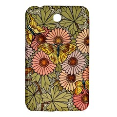 Flower Butterfly Cubism Mosaic Samsung Galaxy Tab 3 (7 ) P3200 Hardshell Case  by Nexatart