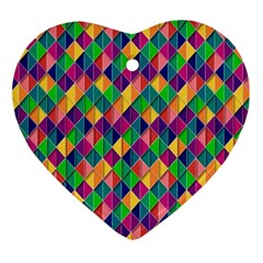 Background Geometric Triangle Ornament (heart) by Nexatart