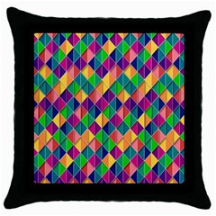 Background Geometric Triangle Throw Pillow Case (black) by Nexatart