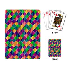 Background Geometric Triangle Playing Card by Nexatart