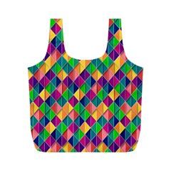 Background Geometric Triangle Full Print Recycle Bags (m)