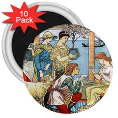 Vintage Princess Prince Old 3  Magnets (10 Pack)  by Nexatart