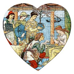 Vintage Princess Prince Old Jigsaw Puzzle (heart) by Nexatart