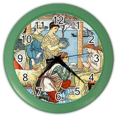 Vintage Princess Prince Old Color Wall Clocks by Nexatart