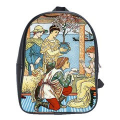 Vintage Princess Prince Old School Bag (large) by Nexatart