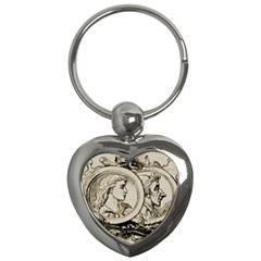 Young Old Man Weird Funny Key Chains (heart)  by Nexatart