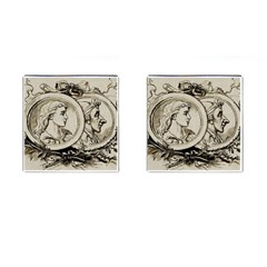 Young Old Man Weird Funny Cufflinks (square) by Nexatart