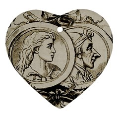 Young Old Man Weird Funny Heart Ornament (two Sides)
