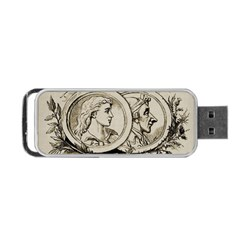 Young Old Man Weird Funny Portable Usb Flash (one Side)