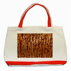 Stainless Rusty Metal Iron Old Classic Tote Bag (red) by Nexatart