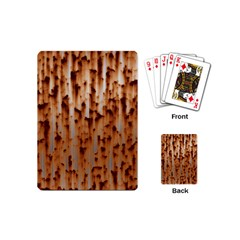 Stainless Rusty Metal Iron Old Playing Cards (mini)  by Nexatart