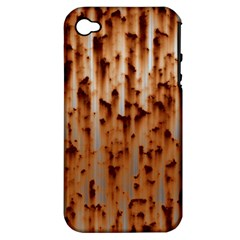 Stainless Rusty Metal Iron Old Apple Iphone 4/4s Hardshell Case (pc+silicone) by Nexatart
