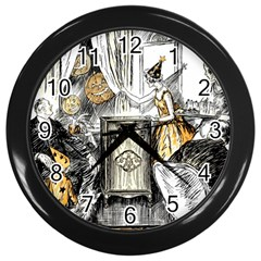 Vintage People Party Celebrate Wall Clocks (black) by Nexatart