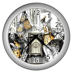 Vintage People Party Celebrate Wall Clocks (silver)  by Nexatart
