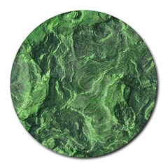 Green Geological Surface Background Round Mousepads