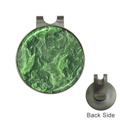 Green Geological Surface Background Hat Clips With Golf Markers