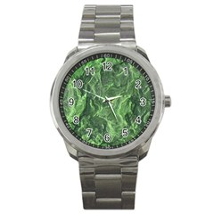 Green Geological Surface Background Sport Metal Watch