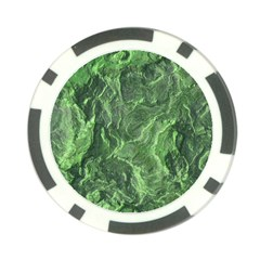 Green Geological Surface Background Poker Chip Card Guard
