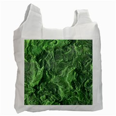 Green Geological Surface Background Recycle Bag (two Side)