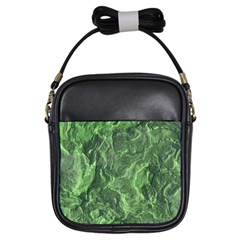 Green Geological Surface Background Girls Sling Bags by Nexatart