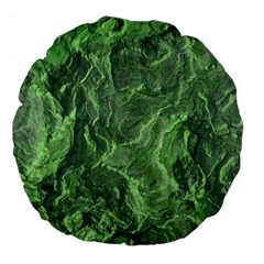 Green Geological Surface Background Large 18  Premium Flano Round Cushions
