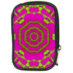 Fern Forest Star Mandala Decorative Compact Camera Cases by pepitasart