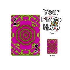 Fern Forest Star Mandala Decorative Playing Cards 54 (mini)  by pepitasart